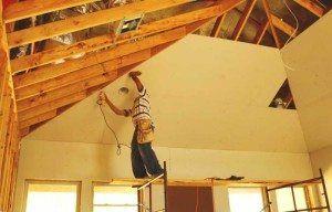 Шаг крепления обрешетка под гипсокартон на потолок размеры из дерева