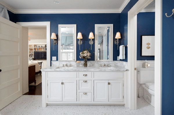 Вариант дизайна ванной с использованием краски