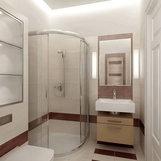 Дизайн душевой кабины в маленькой ванне