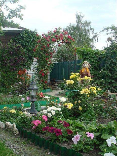 Садовый дизайн своими руками на 6 сотках фото