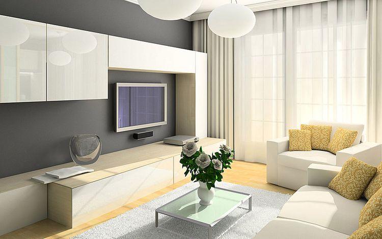 Дизайн гостиной 18 м2