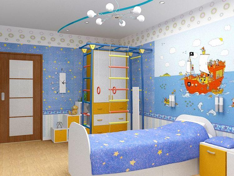 Возможный дизайн детской комнаты для мальчика