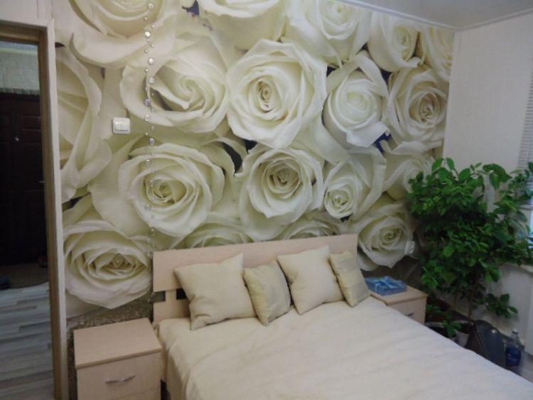 Фотообои в интерьере фото розы