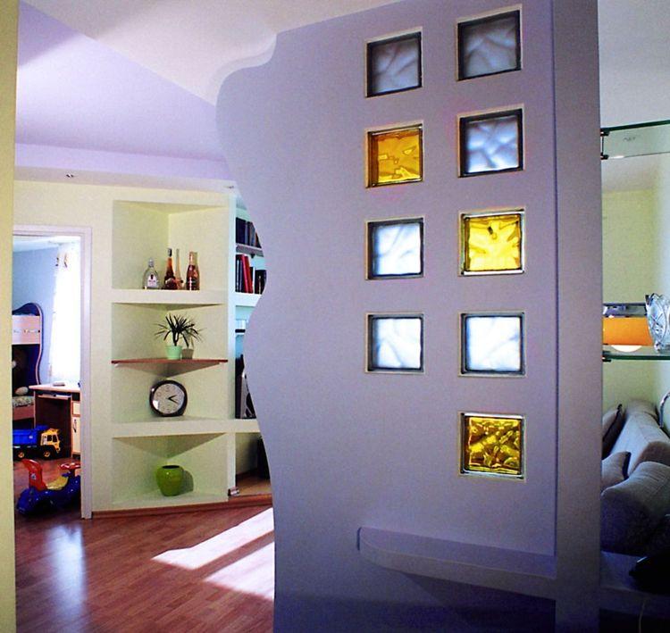 Дизайн стеклоблоков в интерьере