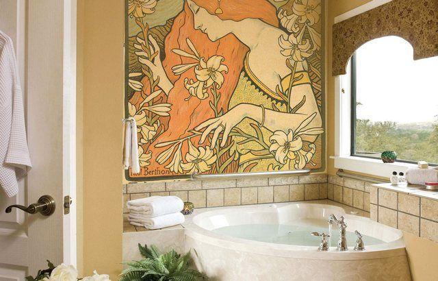 фрески на стену фото в интерьере
