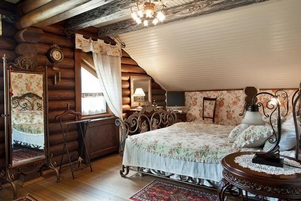 Дизайн загородного деревянного дома внутри