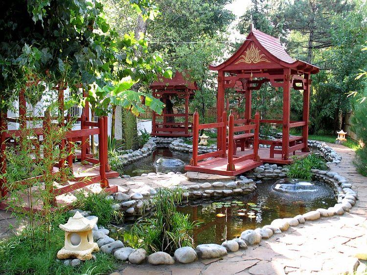 Backyard chinese garden