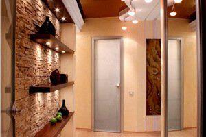 Фото-пример прихожей для узкого коридора