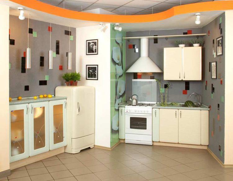 пример кухни из гипсокартона