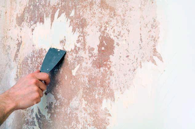 Пример подготовки стены перед оклейкой обоями