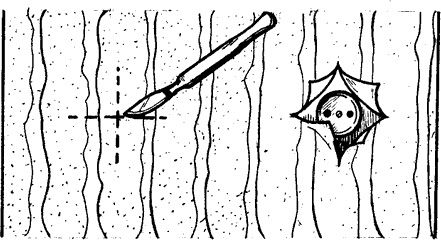 Прорезание отверстий в обоях для розеток и выключателей