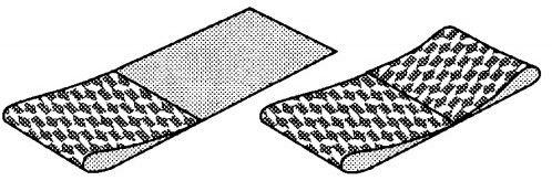 Пример как складывать рулоны обоев промазанные клеем