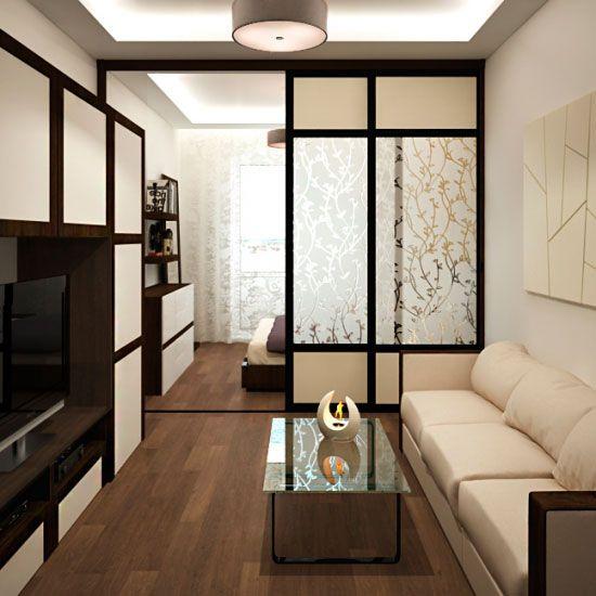 Вариант зонирования спальни-гостиной