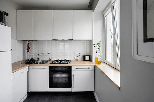 Фото возможного расположения кухонного гарнитура