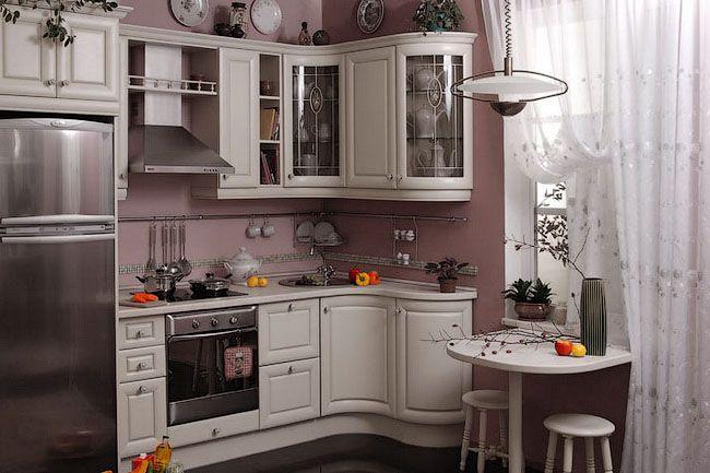 Пример оптимального дизайна маленькой кухни