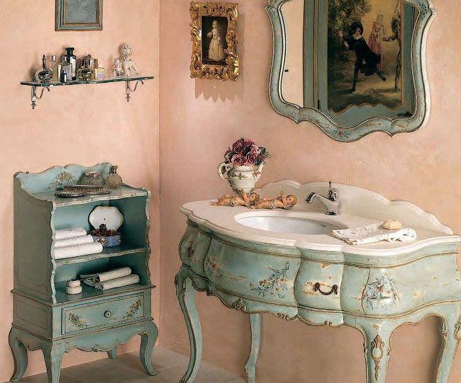 Фото мойдодыр в ванной комнате в стиле прованс