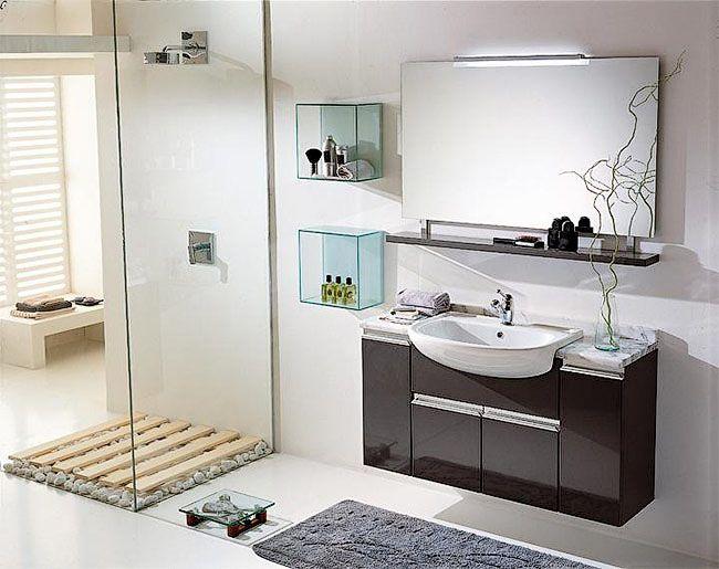 Навесной мойдодыр для небольшой ванной комнаты