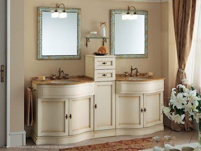 Пример двойного мойдодыра для большой ванной комнаты