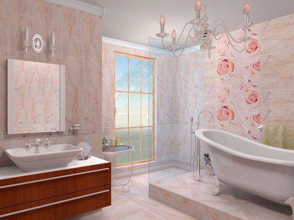 Пример оформления ванной комнаты в стиле Модерн