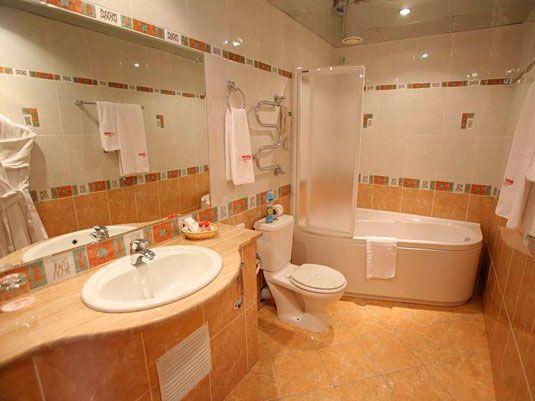 Пример оформления ванной комнаты в европейском стиле