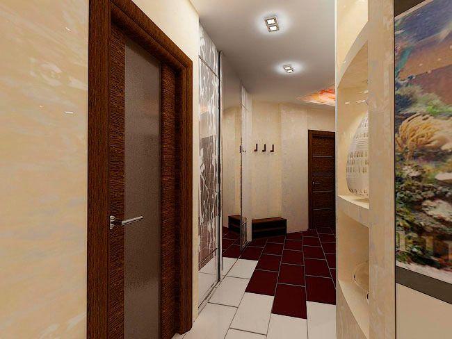 Пример дизайна узкого коридора