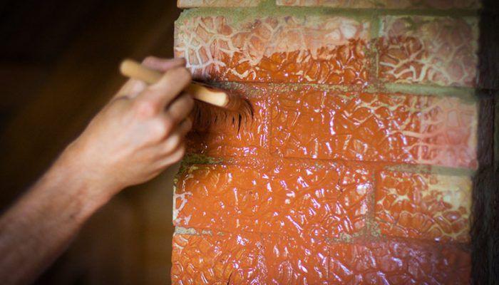 Какой краской покрасить печь после штукатурки