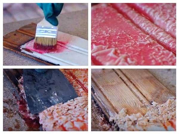 Удаление старой краски с фасада деревянного дома