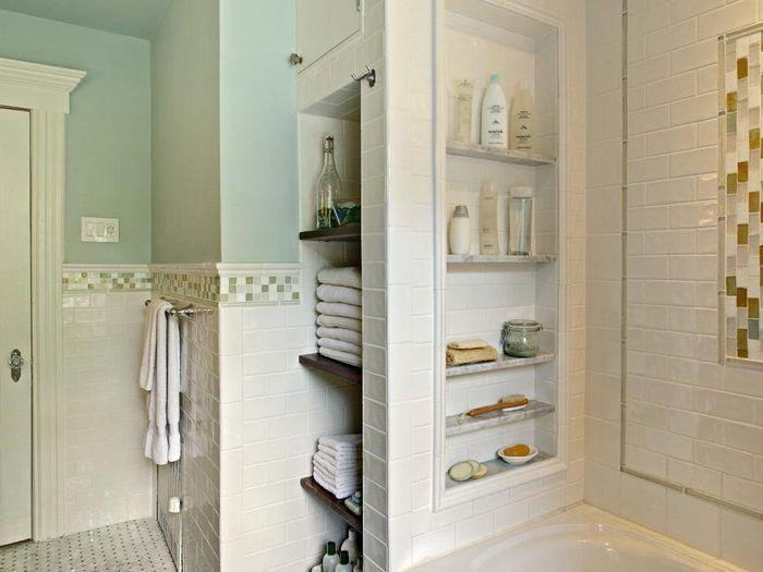Стена из гипсокартона с нишами в ванной как сделать