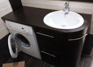 Тумба под раковину и стиральную машину в ванную из гипсокартона