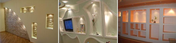 Дизайн стен из гипсокартона: фото и идеи декоративной отделки и узоров