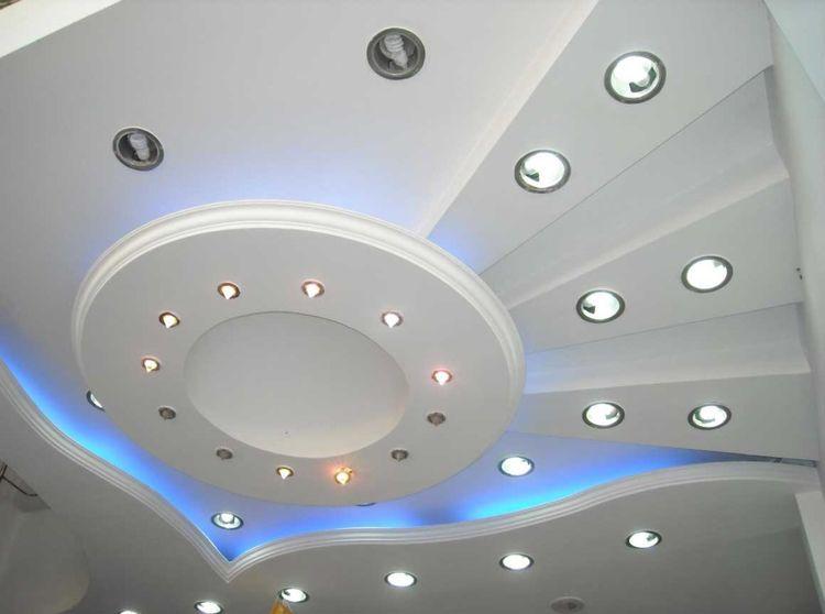 Криволинейные потолки из гипсокартона фото
