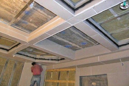 обшивка кессонного потолка