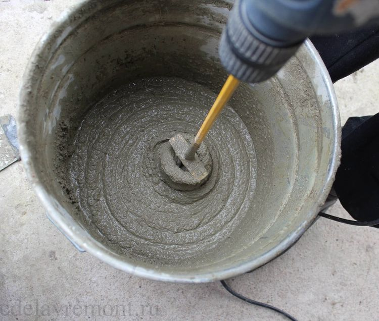 раствор цемент