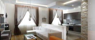 Составляем проект для ремонта и покажем варианты дизайна однокомнатной квартиры