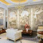 Фрески на стену. Фото в интерьере и пошаговая инструкция при монтаже