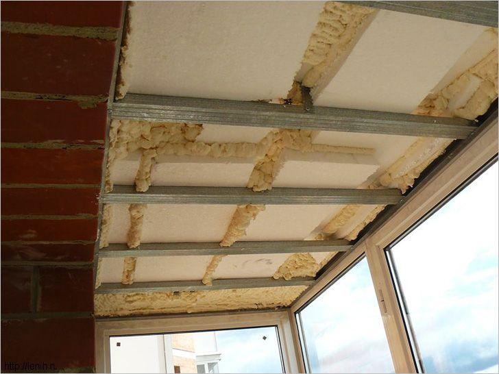 Утепление стен пеной на потолке