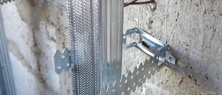 как крепить гипсокартон на стены
