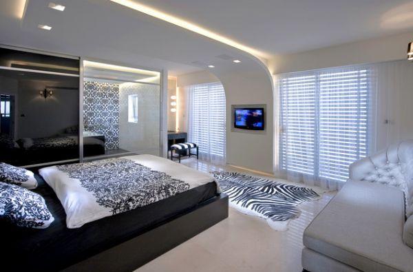 самый красивый потолок из гипсокартона в спальне фото
