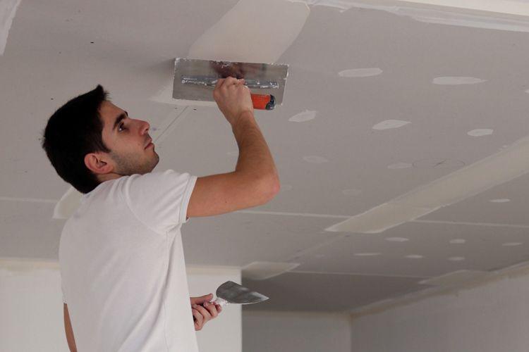 Шпаклевка гипсокартона перед покраской потолка