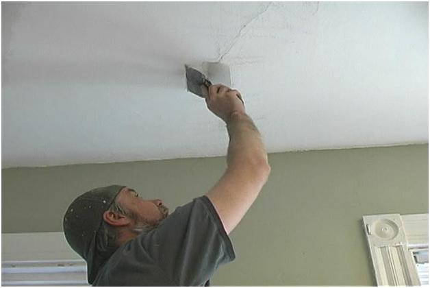 заделать дырку в гипсокартоне в потолке
