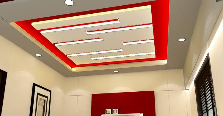 самые красивые потолки из гипсокартона фото