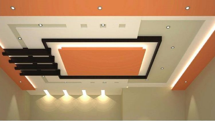 фото красивого потолка в гостиной