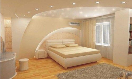 Пример потолков из гипсокартона в комнате