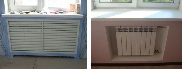 Примеры как красиво закрыть батарею в комнате