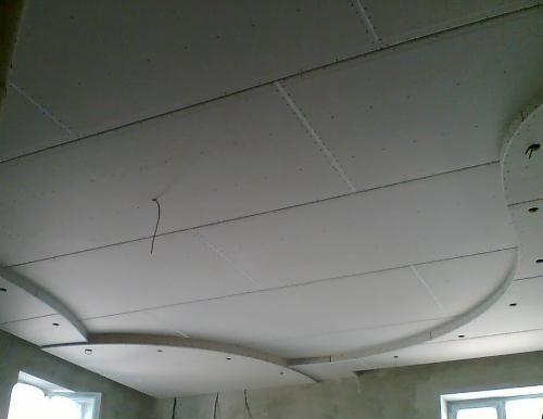 Потолки из гипсокартона для спальни монтаж
