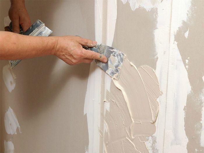 Шпаклевка гипсокартона перед покраской стены