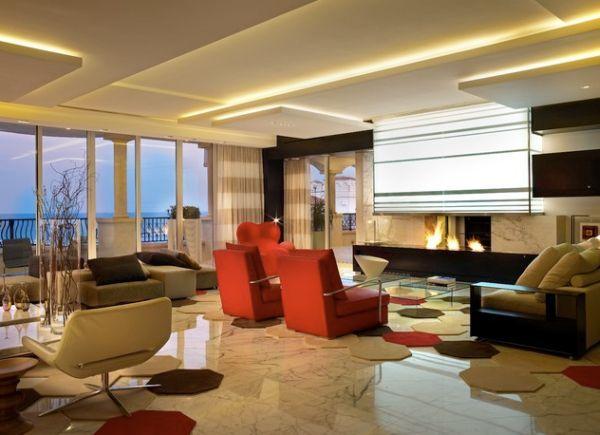 красивые подвесные потолки из гипсокартона фото