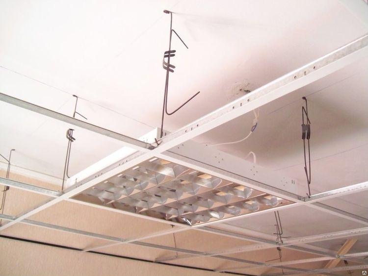Подвесной потолок Армстронг: расчет комплектующих и материалов