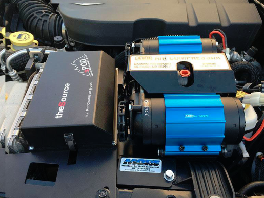 Как установить ARB 12V TWIN ON BOARD AIR COMPPRESSOR на Wrangler 87-17