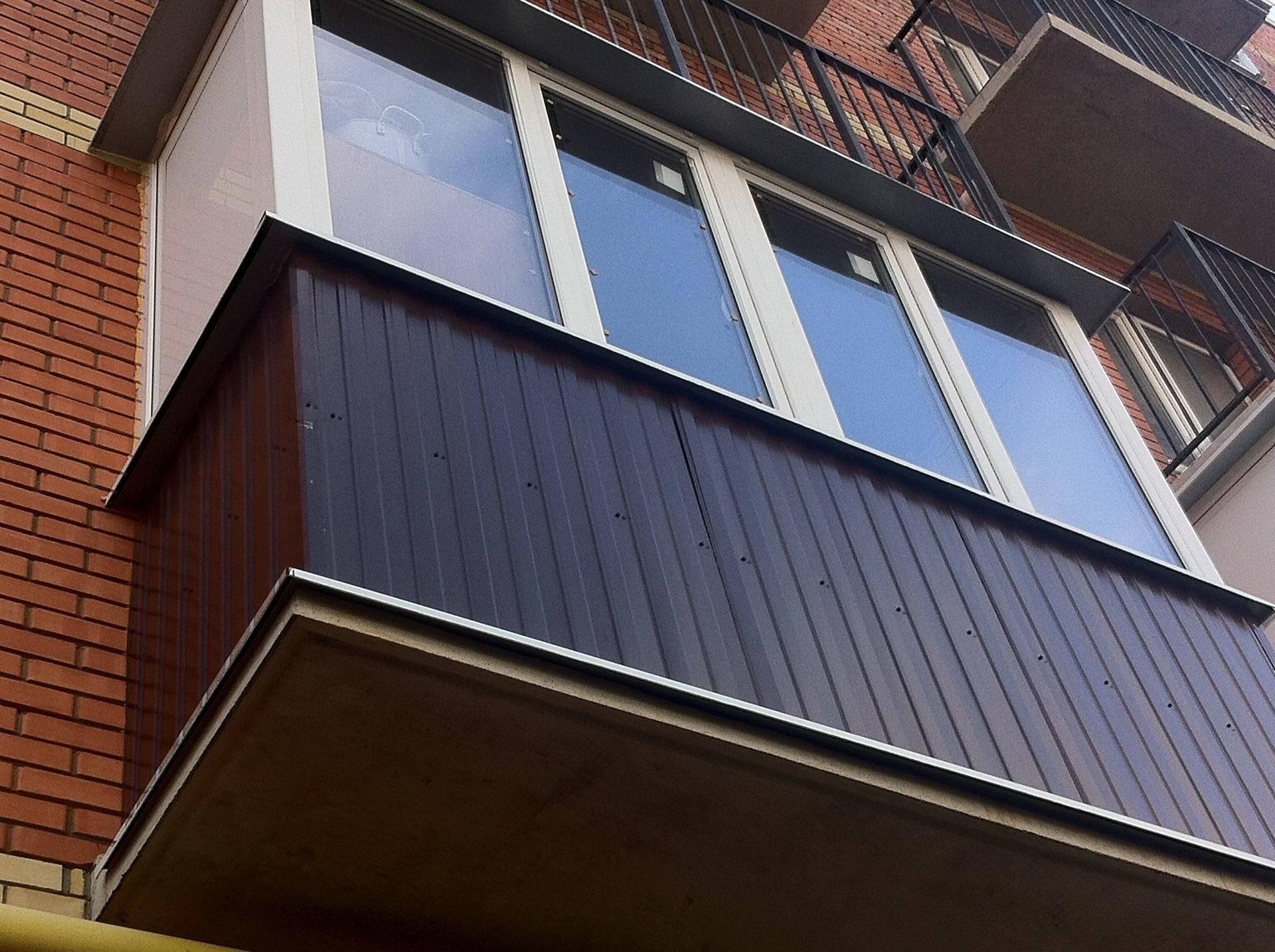 балконы установка